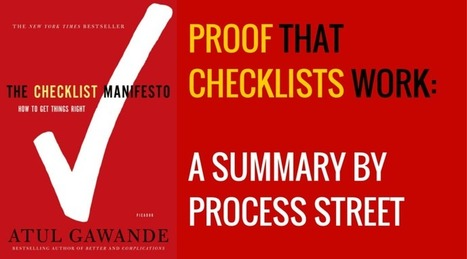 From Impossible, to Good, to Great: The Checklist Manifesto | Change Management Resources | Scoop.it