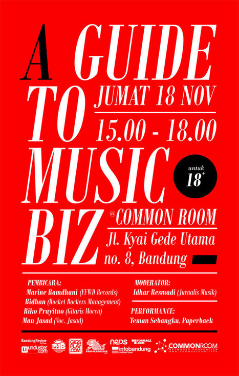 [Workshop] A Guide to Music Biz | Jumat, 18 November 2011 « Common Room Networks Foundation | Common Room | Scoop.it