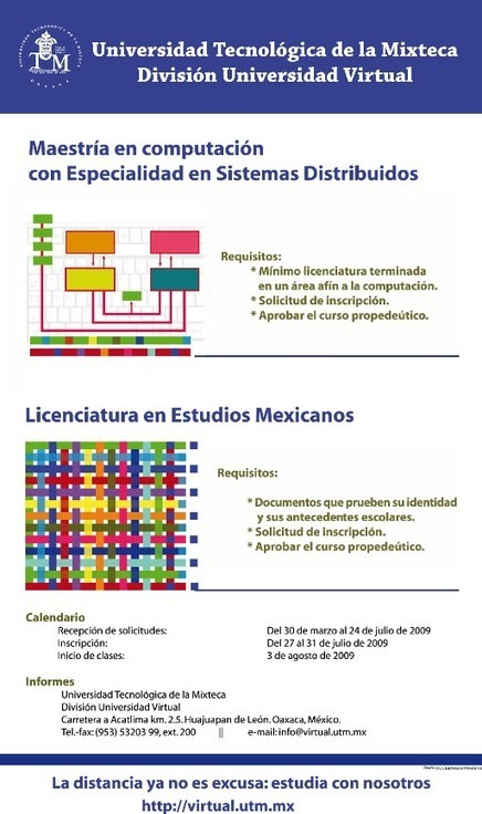 Universidad Tecnológica de la Mixteca: Virtual - UTM (Mexico)   universidad virtual de mexico   Scoop.it