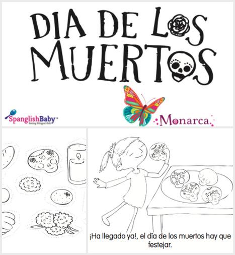 Free Día de Muertos Coloring Story Book In Spanish {Printable} | Dia de los muertos | Scoop.it