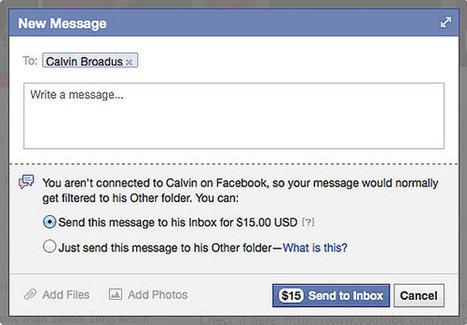 Facebook facture maintenant les messages privés aux célébrités | Communication 2.0 et réseaux sociaux | Scoop.it
