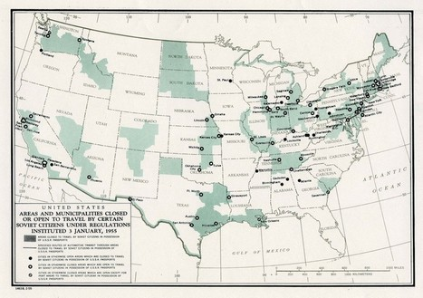 1955 Map Shows No-Go Zones for Soviet Travelers in the US - Slate Magazine (blog)   Cold War History   Scoop.it