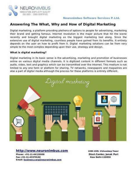 Answering The What, Why and How of Digital Marketing | Website Designing and Development | Scoop.it