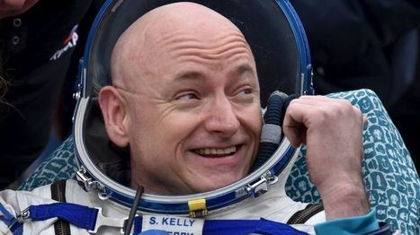 Astronaut twin Scott Kelly returns after year in space - BBC News   space and aerospace   Scoop.it