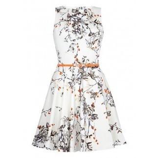 Berry Print Belted Skater Dress | Shop Online | BeSaz Boutique | Nigeria | Ghan | Besaz Boutique | Scoop.it