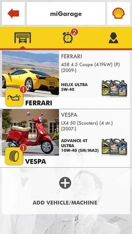 Shell relaunches lubricants app as Shell miGarage to notify vehicle owners of key dates | Lubricants and Lubrication Technology | Scoop.it