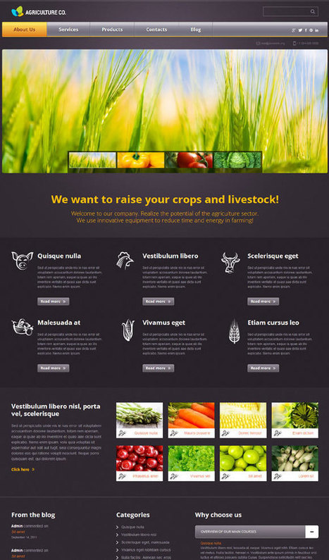 Agriculture Co. WordPress Template for Business Websites | Unit 6 (Agriculture) | Scoop.it