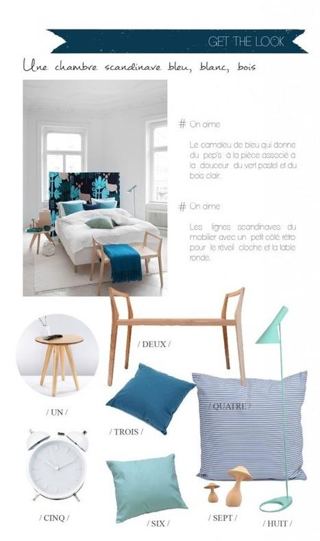 Get the look | Une chambre scandi en bleu, blanc, bois | décoration & déco | Scoop.it