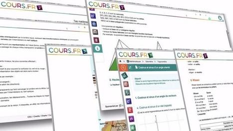 Cours.fr : des fiches de cours gratuites pour les collégiens et lycéens - Geek Junior - | En médiathèque | Scoop.it