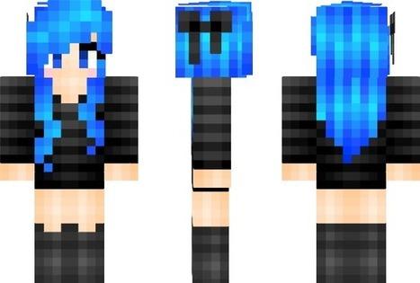 PixeledMe Minecraft | Electric Blue Hair Minecraft Skin | aniraMieh | Scoop.it