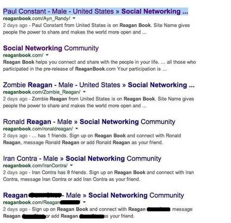 "Trolls bring down the launch of conservative social network ""Reaganbook"" 