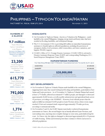 Super-Typhoon Haiyan (Yolanda) | U.S. Agency for International Development | Disaster Services | Scoop.it