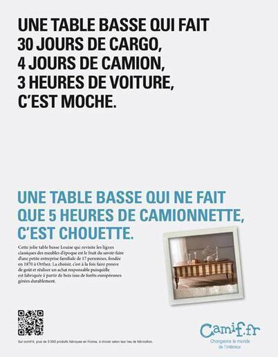Une table qui ne fait que 5 heures de camionnette, c'est chouette - Sircome | L'actu Made in France et les coups de coeur Fabrication française | Scoop.it