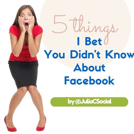 5 Things I Bet You Didn't Know About Facebook | Nonprofits & Social Media | Scoop.it