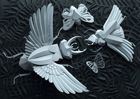 Drawing with Paper: Amazing Papercraft from Lobulo Design | Amazing Paper | Scoop.it