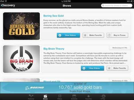 Discovery Channel on iPads - Class Tech Tips | iPads in Education | Scoop.it