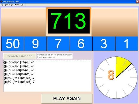 A free version of the well known TV game | Functional Maths and English | Scoop.it