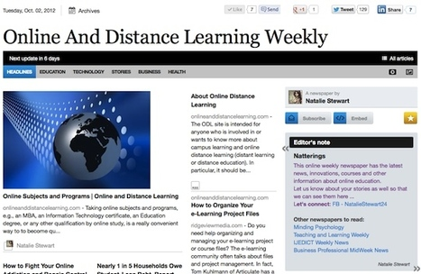 Oct 2 - Online And Distance Learning Weekly is out | Studying Teaching and Learning | Scoop.it