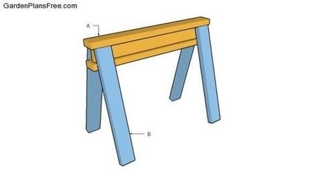 Wooden Sawhorse Plans | Free Garden Plans - How to build garden projects | Garden Plans | Scoop.it
