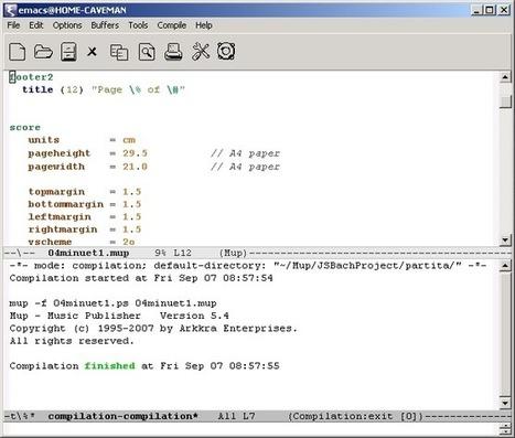 MUP Typesetting Tutorial | Music Typesetting | Scoop.it