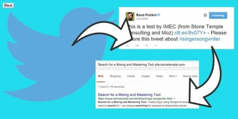 Tweeting a Link to a Page Might Get it Indexed | MarketingHits | Scoop.it