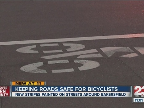New stripes along several streets in Bakersfield are helping keep bicyclist safe | Bicycle Safety and Accident Claims in CA | Scoop.it