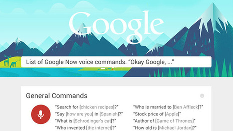 Learn Over 60 Google Now Commands With This Infographic | Visualizations | Scoop.it