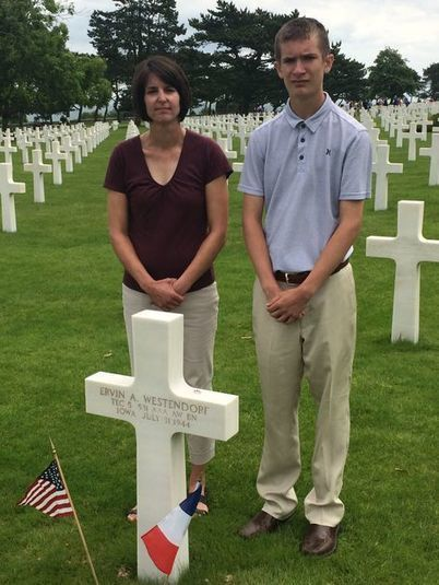 Area student, teacher deliver eulogy in France for forgotten Waverly WWII vet | World at War | Scoop.it