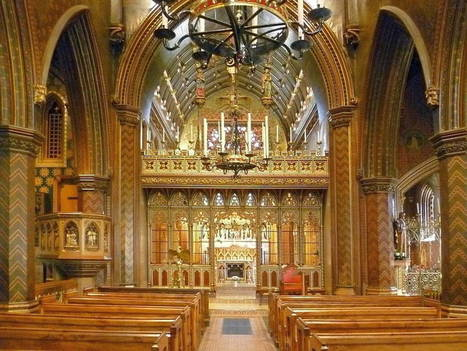 St Giles' Church, Cheadle, by A. W. N. Pugin (Interior) | Wenlock Edge | Scoop.it