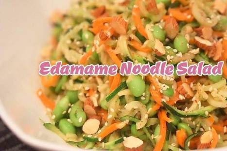 Easy Edamame Noodle Salad with Almonds | Best Easy Recipes | Scoop.it