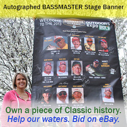 Coolest Father's Day Gift Ever: Autographed BASSMASTER Classic stage banner | Recycled Fish News | Fishing Industry News | Scoop.it