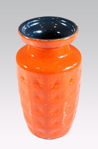 Scheurich Prisma Orange West German vase, 1960's retro/vintage ceramics | Our Stock | Scoop.it