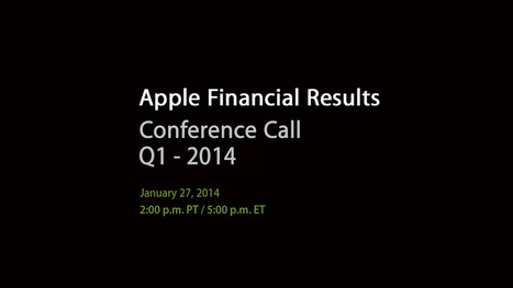 Apple's Q1 FY14 Earnings Release Conference Call. Prediction? Apple makes metric buttloads of money.   Macintosh   Scoop.it