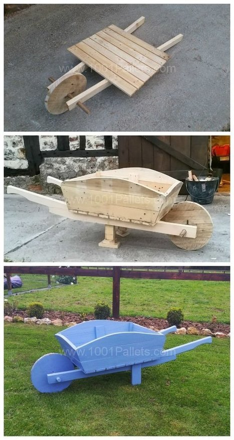 Pallet Wheelbarrow Used as a Planter and Decoration for My Garden | Upcycled Objects | Scoop.it