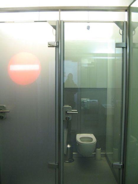 Crazy Vienna Cafe Has See-Through Toilet Doors | Strange days indeed... | Scoop.it