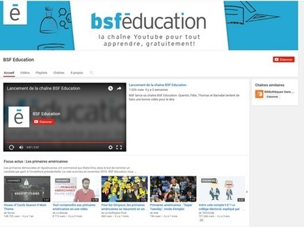 La chaîne vidéo éducative de Bibliothèques Sans Frontières | Education et TICE | Scoop.it