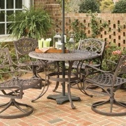 Home Styles 5555-325 Biscayne 5-Piece Outdoor Dining Set, Rust Bronze Finish, 48-Inch | Furniture Shoppy | Best Patio Furniture Sets | Scoop.it