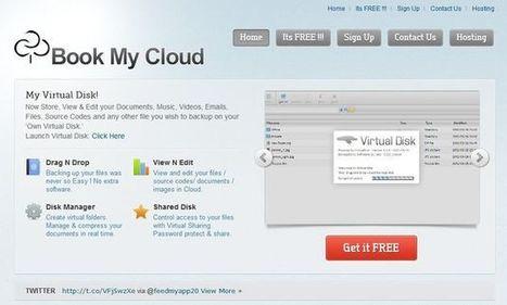Book My Cloud, disco duro virtual en la nube con espacio ilimitado y gratuito   Aplicaciones y Herramientas . Software de Diseño   Viajar y aprender   Scoop.it