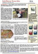 Royal Irish Academy | Projects | Irish Historic Towns Atlas | Newsletter | Researcher night text | Scoop.it