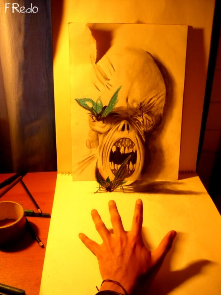 Amazing 3D Pencil Drawings by 17 Year Old Fredo   Bored Panda   Machinimania   Scoop.it