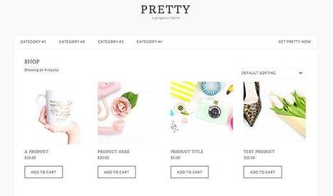 Pretty WordPress Female Entrepreneur or Blogger Theme   Free Premium WordPress Themes   Scoop.it