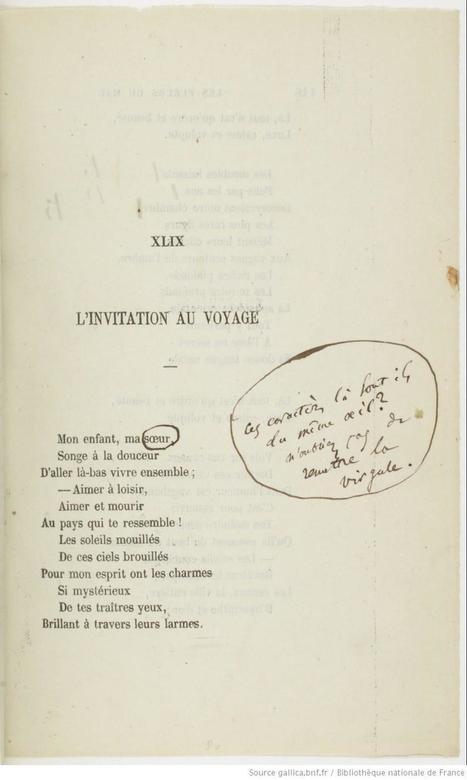 Les Fleurs du mal : [épreuves d'imprimerie] / par Charles Baudelaire   Bureau de curiosités   Scoop.it
