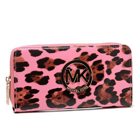 On sale Michael Kors Leopard Continental Large Pink Wallets at Prettybagoutlet | Michael kors Wallets | Scoop.it