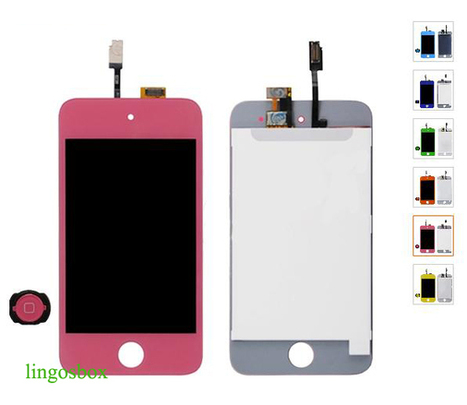 New Genuine Pink iPod Touch 4 4G LCD+Touch Screen Panel Digitizer Assembly+Home Bottom | hot deals on lingosbox | Scoop.it