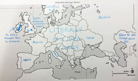 Americans Were Asked To Place European Countries On A Map. Here's What They Wrote:   Geography   Scoop.it