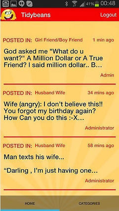 TidyBeans SMS, Greetings, Jokes And Quotes App Screenshots by amebasoftware | AmebaEntertainment | Scoop.it