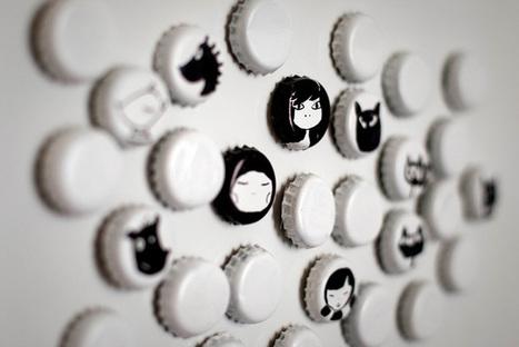 Créer des magnets avec des capsules   Club créativité   Scoop.it