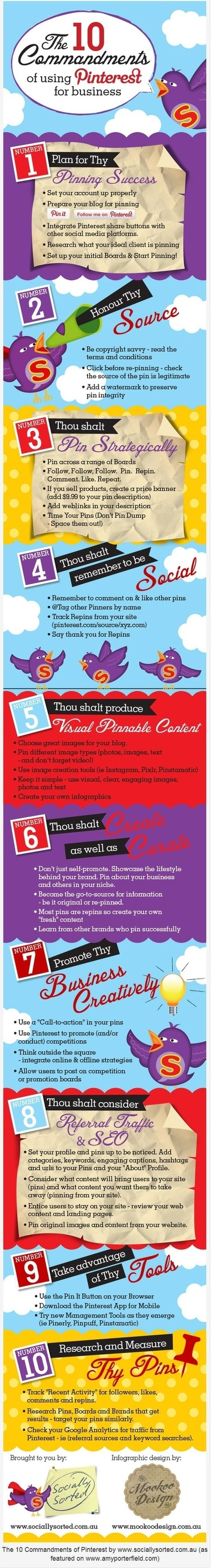 The 10 Commandments of using Pinterest for Business [Infographic] | Amazing Infographs | Scoop.it