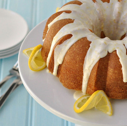 Light Lemon Bundt Cake with a Light Lemon Glaze