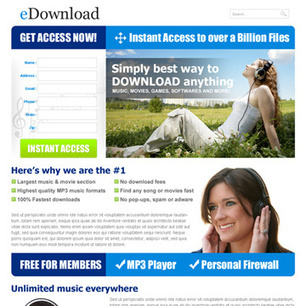 music landing page design template | converting and effective landing page designs | Scoop.it